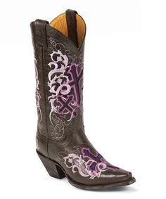 Take a look at the Justin Boots Sepia Calf Cowboy Boot on #zulily today!