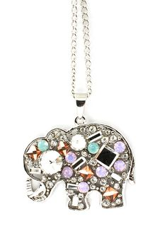 Crystal Elephant Pendant on Emma Stine Limited