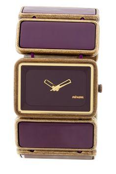 Nixon The Vega Womens Stainless Steel Antique/Purple Watch on HauteLook