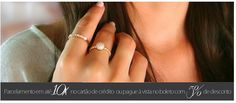 Blog Rivera Joias: Anéis solitários folheados a ouro com 25% de desco...