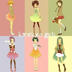 Katekyo girls: Kyoko, Haru, I-pin, Chrome, Yuni, and Bluebell <3 - I want Bluebell's outfit!!