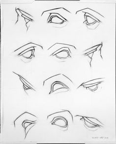 How to draw different angles of the male eye