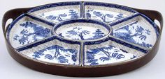 Booths Real Old Willow  Hors d'oeuvres set c1920s