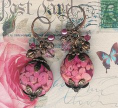 50 Off SaleMosiac Stone Collection Pink Stones by myjuliejewels, $9.98