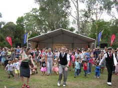 The crowd are really into the groove with Canberra Swing Katz during the Find30 dance interval at Summer Sounds.