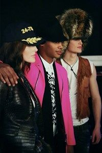 Backstage Dsquared2 menswear cap pink fur aw15 milan