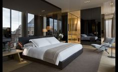 Conservatorium Hotel Amsterdam Suites- I'm aware this is a hotel room. But some nice bedroom ideas in here Dream Bedroom, Home Bedroom, Bedroom Ideas, Bedroom Modern, Hotel Room Design, Apartment Layout, Hotel Interiors, Hotel Suites, Design Furniture