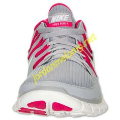 the latest 957ce 9abfc Nike Free 5.0 Womens Review Running Shoe Wolf Grey White Pink Force 580591  061 Basketball Shoes