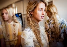 Backstage at Tory Burch Spring 2013. Photo courtesy of vogue.com.
