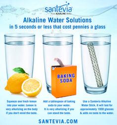 Easy, inexpensive ways to get alkaline water. santevia.com