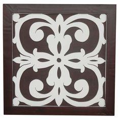 Ratu Modern Fretwork Design 4 Wall Graphic Art on Plaque