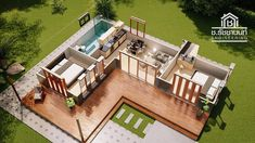 49 ideas for house plans modern small design L Shaped House Plans, Small House Plans, House Floor Plans, L Shaped Tiny House, Loft House Design, Small House Design, Best Home Plans, Modern Bungalow House, Casas Containers