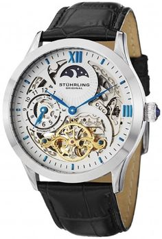 Stuhrling Original 571.33152 Classic Winchester Tempest II Automatic Skeleton Watch For Men