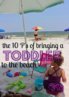 The 10 P's of Bringing a Toddler to the Beach - Beach Packing w/Toddler - Pack N Play, Beach Play, Beach Fun, Baby Beach, Romantic Beach, Miami Beach, Beach List, Beach Trip, Beaches Near Orlando