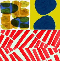 Sanne van de Goor watch out Marimekko fresh blots of color in tones that feel like that first layer of nail polish #textile #designer #surface