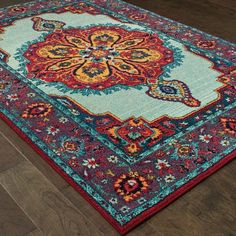 "The Curated Nomad Portia Boho Chic Medallion Area Rug - 7'10"" x 10'10"""