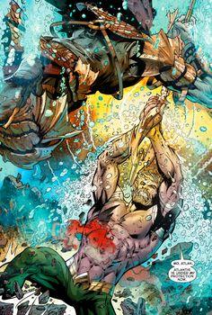 "Aquaman #25(2013) ""Baptism of Fire"" Geoff Johns / Paul Pelletier"