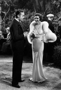 Charles Boyer and Claudette Colbert in The Man From Yesterday, 1932