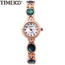 TIME100 Voga Relógios Feminino Simples de Pulseira à Prova de Água Pequeno Discar Relógios de Quartzo com Pulseira de Abalone Relógios de Pulso para as Senhoras(China (Mainland))