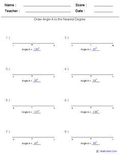 Drawing Angles Worksheet - Khayav