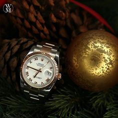 Put some bling under the tree with this Rolex Datejust. It's a watch for him or her. #highroller #rolex #datejust #watchmaster #passionforwatches #christmas #gift #time #watch #luxury