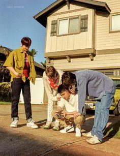 Baekhyun, Kai, D.O, Sehun - 190911 Fourth official photobook 'PRESENT ; the moment' Credit: Chanbaek, Exo Ot12, Kaisoo, Exo Kokobop, Kpop Exo, Kyungsoo, Polaroid, Exo Album, Exo Lockscreen