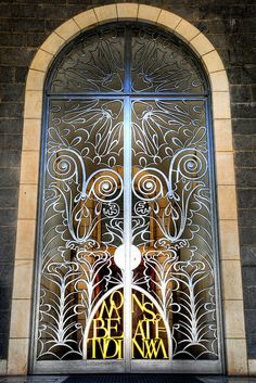 Stunning door in Tiberias, Israel. Tiberias is a city on the western shore of the Sea of Galilee, Lower Galilee, Israel.