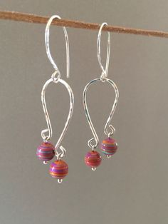 Calsilica Dangle Earrings Sterling Silver Handmade Earrings