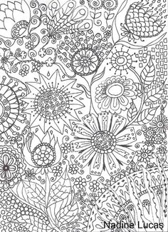 Flower Abstract Doodle Coloring pages colouring adult detailed advanced printable Kleuren voor volwassenen