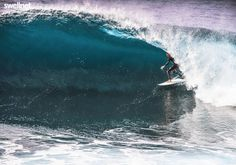 Wave of the Day: Kurt Kiggins relaxed inside a glittering Cape Solander barrell