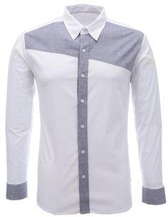 FLATSEVEN Herren Designer Slim Fit Farbe Block Langarm Hemden (SH194) Navy,  FLATSEVEN http://www.amazon.de/FLATSEVEN-Designer-Kontrast-Two-Tone-SH196/dp/B00ITEIX4O
