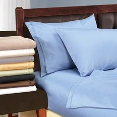 Shop for Superior Egyptian Cotton 1500 Thread Count Solid Deep Pocket Sheet Set. Get free shipping at Overstock.com - Your Online Sheets