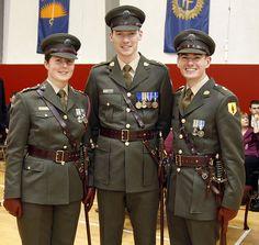 Irish Army officers' service dress uniform.