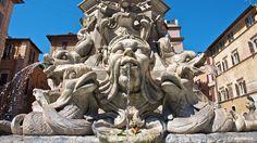 The Pantheon: Fountain in Piazza della Rotonda
