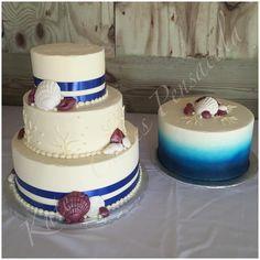 Beach And Shell Wedding Cake Pensacola Florida Kates Cakes