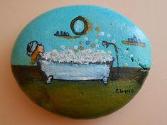 #Painted_Stone #pebble #Bathing
