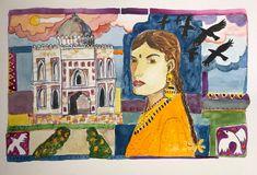 Watercolour New Delhi India Delhi India, New Delhi, Watercolour, Faces, Painting, Art, Pen And Wash, Art Background, Goa India