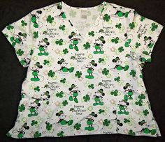 d4ff541c2ae Disney Women's Scrubs Top Size 3X Halloween Mickey Mouse & Friends Nurse  Plus | eBay