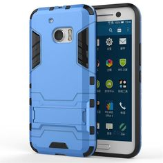 Case for HTC 10 Shockproof Super Slim Armor Design TPU 2 in 1 with Kickstand