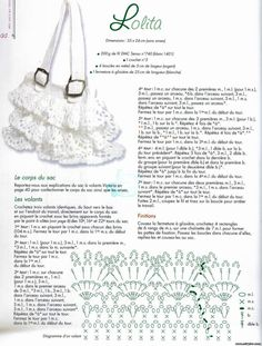 Crafts for summer: crochet bag, free crochet pattern ~ make handmade - handmade - handicraft