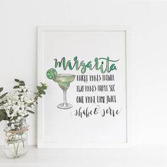 Margarita Print Margarita Printable Cocktail Printable