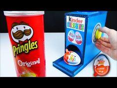 How to make Kinder Surprise Eggs Vending Machine Dispenser Using Pringles Original - YouTube