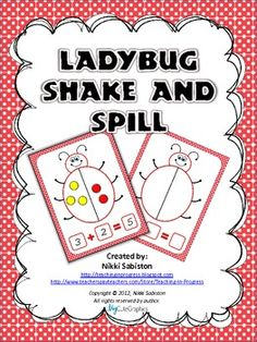 Here's a ladybug shake and spill activity to practicing composing and decomposing numbers.