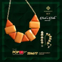 Serendipity welcomes Rock-a-Bella Creations reations on board. They provides you with striking jewelery that adorns the body, nourishes the soul and honors traditions from around the globe.  Accessorise yourself with their unique & exclusive jewellery only at  #Serendipity #Take10 #ThePopUpShow #LifestyleExhibition #25Feb'17 #CourtyardMarriotGurgaon