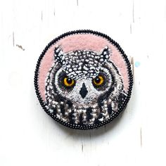 Brooch, Needlefelt and embroidery