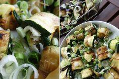 madisoncoco-onlinemagazin-bloggermagazin-netzwerk-ekulele-antipasti-ziegenkaese-roellchen-aubergine-zucchini-7 Zucchini Aubergine, Cobb Salad, Food, Eten, Meals, Diet