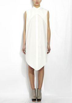 Charlie May White Cotton Shirt Dress