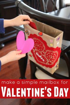 Cereal Box Mailboxes for Valentine's Day - Red Ted Art's Blog : Red Ted Art's Blog