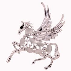 Unique-Design-Silver-Hollow-Lively-Horse-Carve-Crystal-With-Wings-Brooch-Lady