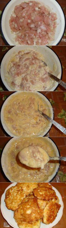 Как приготовить куриные оладьи - рецепт, ингридиенты и фотографии